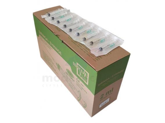 350 Adet 2 cc Yeşil Kısa Uçlu Aşı Enjektörü