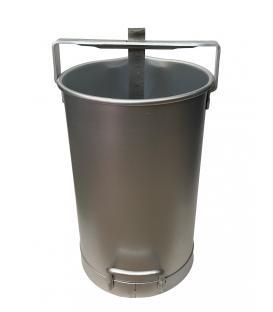 20 Litre Süt Ölçer Kovası Aluminyum (Ölçek)