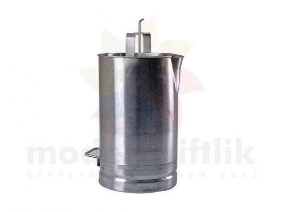 20 Litre Süt Ölçer Kovası Krom (Ölçek)