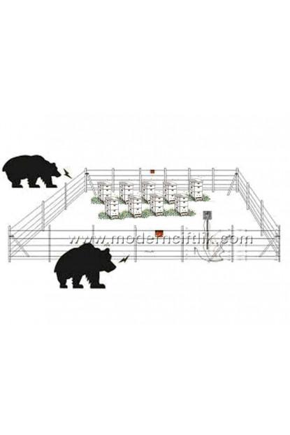 400 ile 1600 m² Arası Arıcı Elektirikli Çit Sistemi